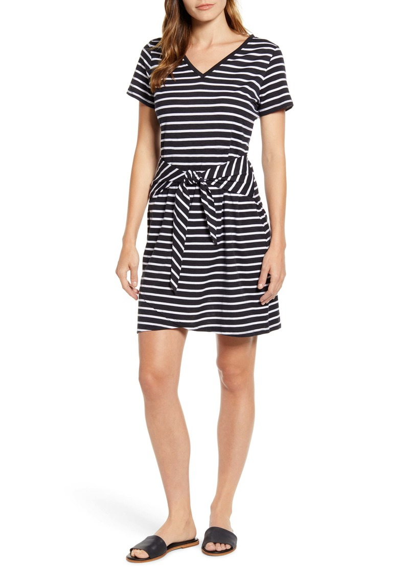 Tommy Bahama Sonoran Stripe Tie Waist Dress