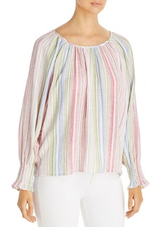 Tommy Bahama Striped Smocked Sleeve Top