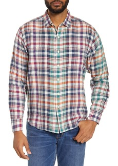 Tommy Bahama Summer Night Plaid Button-Up Linen Shirt