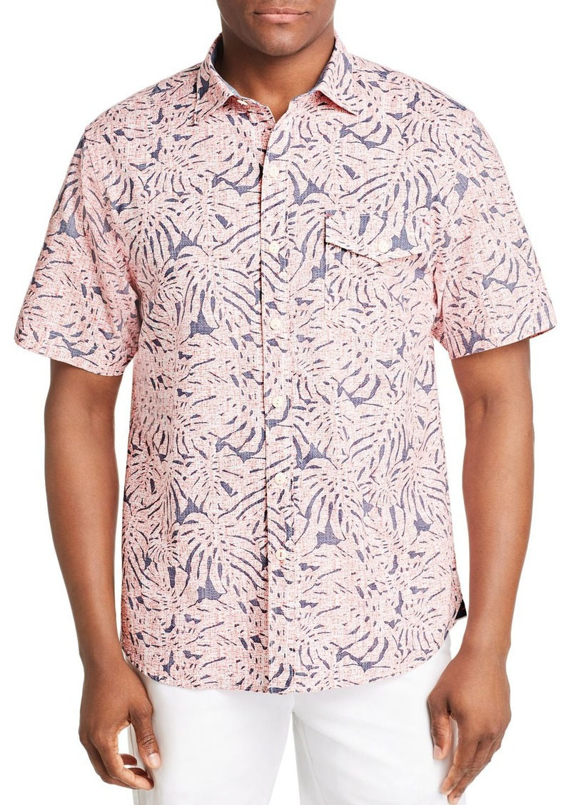 Tommy Bahama Sun Coral Short-Sleeve Frond-Print Classic Fit Shirt