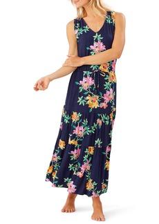Tommy Bahama Sun Lilies Sleeveless V-Neck Tiered Sundress