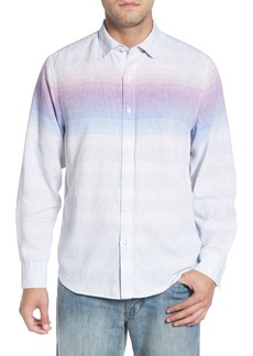 Tommy Bahama Sunset Ombré Linen Blend Sport Shirt