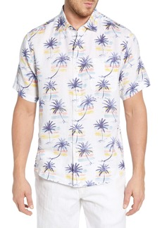 Tommy Bahama Sunset Palm Print Linen Shirt