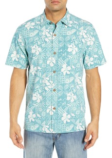Tommy Bahama Tahitian Tiles Classic Fit Silk Blend Sport Shirt