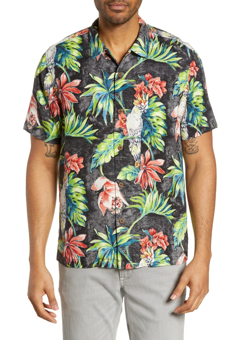 Tommy Bahama Tahitian Tweets Classic Fit Silk Camp Shirt