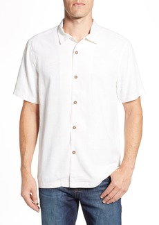 Tommy Bahama Tailgate Club Embroidered Silk Camp Shirt