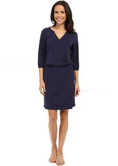 Tambour 3/4 Sleeve Blouson Dress