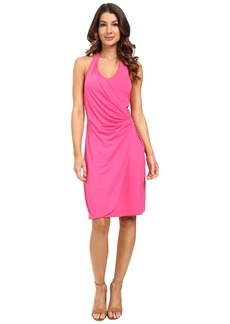 Tommy Bahama Tambour Shirred Halter Dress