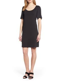 Tommy Bahama Tambour Short Sleeve Stretch Cotton Sheath Dress