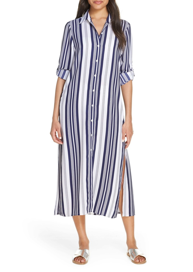 Tommy Bahama Tan Lines Stripes Cover-Up Shirtdress
