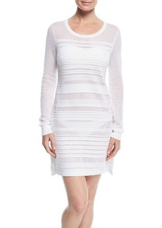 Tommy Bahama Textured Crewneck Cotton Coverup Dress