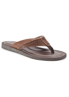 Tommy Bahama Textured Leather Slide Sandals