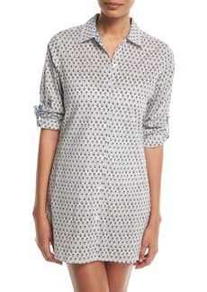 Tommy Bahama Tika Button-Front Boyfriend Shirt Coverup