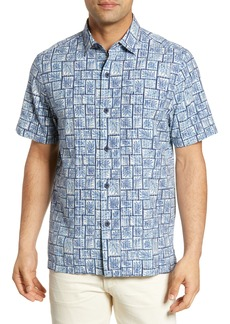 Tommy Bahama Tonga Tiles Regular Fit Camp Shirt