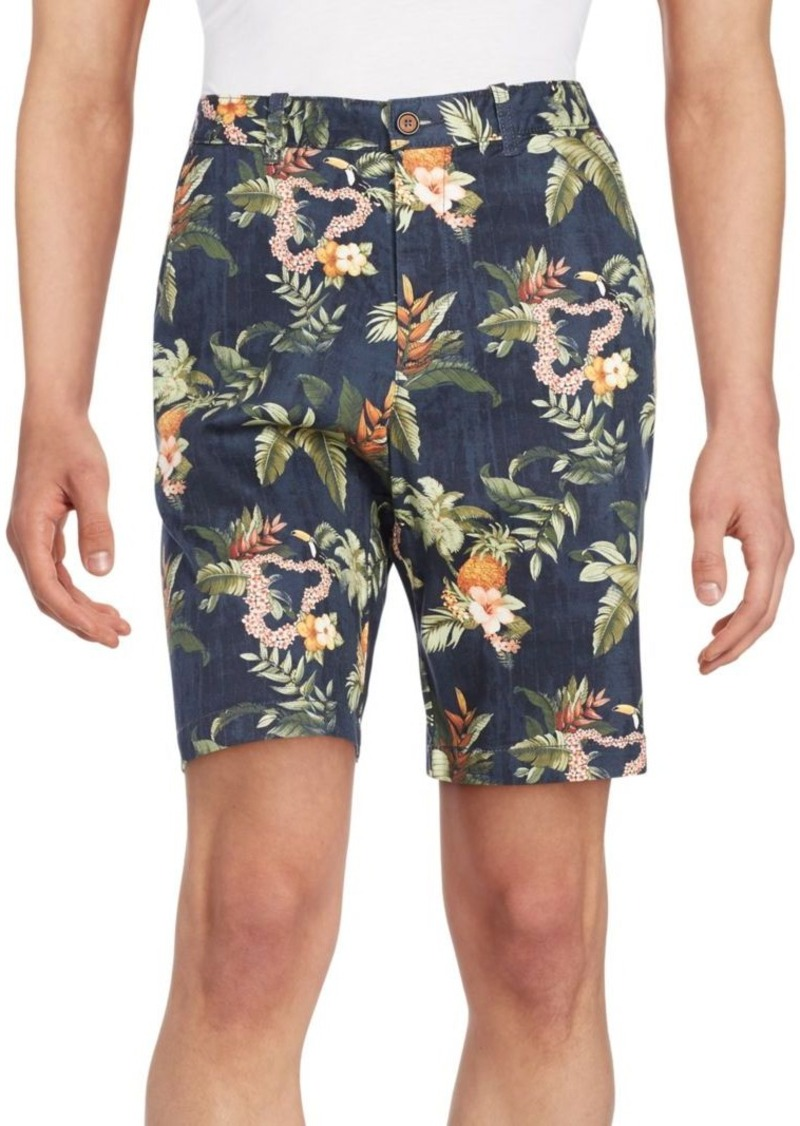 Tommy Bahama Toucin Do It Tropical-Print Stretch Cotton Shorts