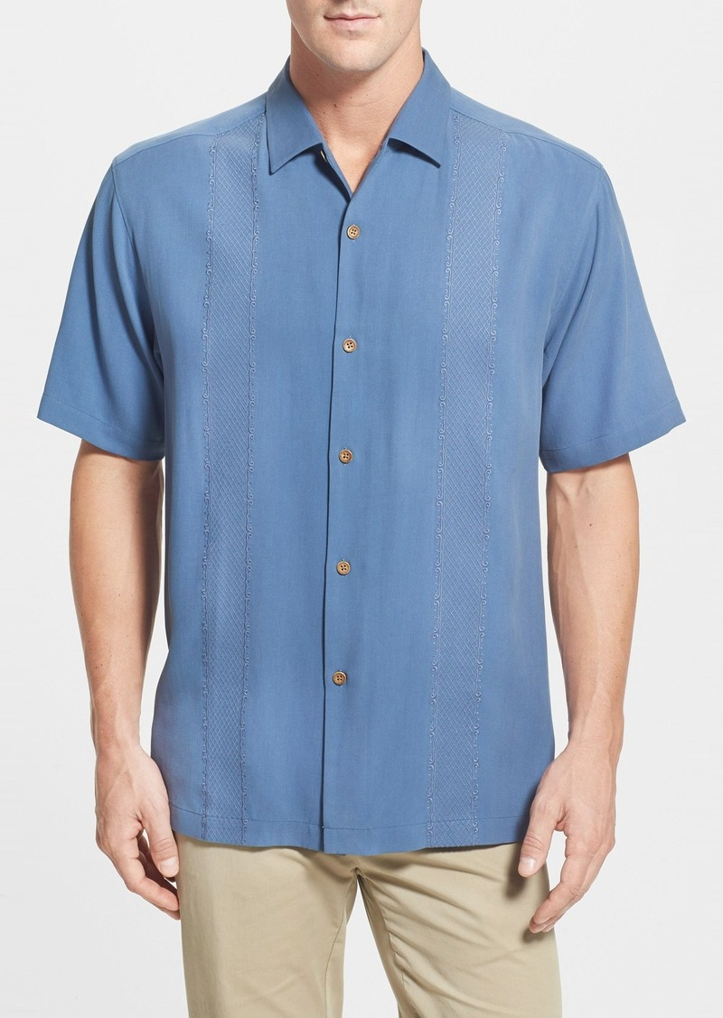 Tommy bahama tommy bahama 39 tropical o 39 aces 39 original fit for Tommy bahama embroidered silk camp shirt