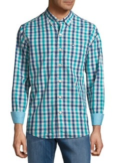 Tommy Bahama Tudo Check Cotton Casual Button-Down Shirt