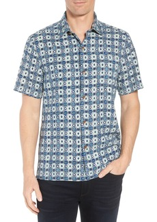 Tommy Bahama Tulum Tiles Silk Camp Shirt