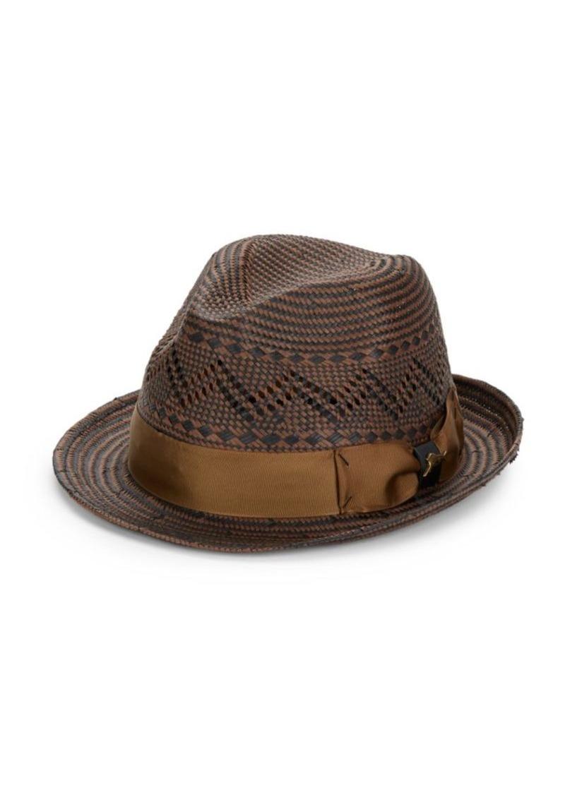 Tommy Bahama Two-Tone Straw Fedora Hat