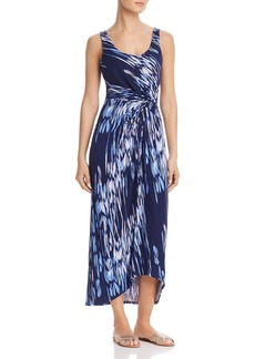 Tommy Bahama Under the Sea Twist-Front Maxi Dress
