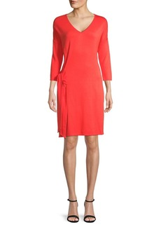 Tommy Bahama V-Neck Side-Tie Shift Dress
