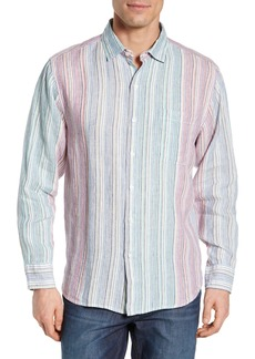 Tommy Bahama Vair Stripe Linen Sport Shirt