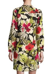 Tommy Bahama Victoria Blooms Floral-Print Linen Dress