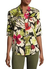 Tommy Bahama Victoria Blooms Floral-Print Linen Shirt