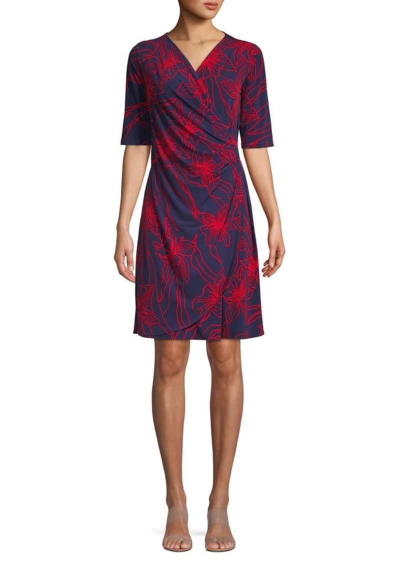 Tommy Bahama Vista Bloom Short Faux Wrap Dress