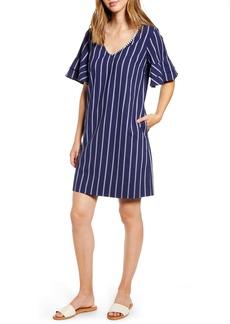 Tommy Bahama Vista Stripe V-Neck Shift Dress