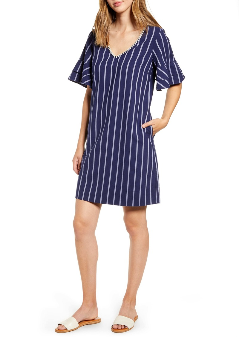 Tommy Bahama Vista Stripe V-Neck Shift Dress