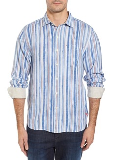 Tommy Bahama Watercrest Stripe Linen Sport Shirt