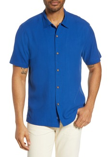 Tommy Bahama Welcome to the Reel World Classic Fit Silk Camp Shirt