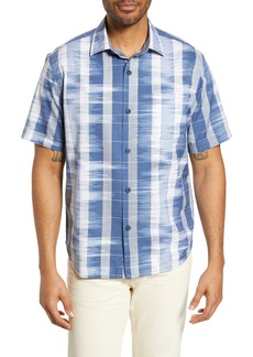 Tommy Bahama Who Got Ikat Classic Fit Cotton & Silk Sport Shirt