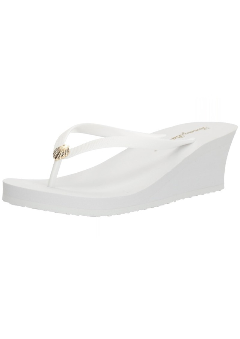 Tommy Bahama Women's Whykiki Wedge Solid Flip-Flop   M US