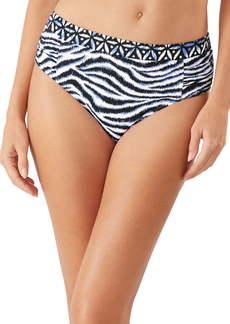 Tommy Bahama Zanzibar Zebra High Waist Bikini Bottoms