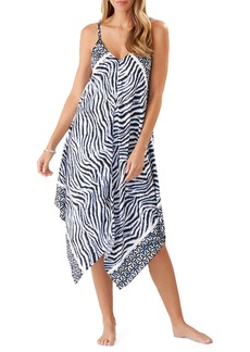 Tommy Bahama Zanzibar Zebra Stripe Scarf Cover-Up Dress
