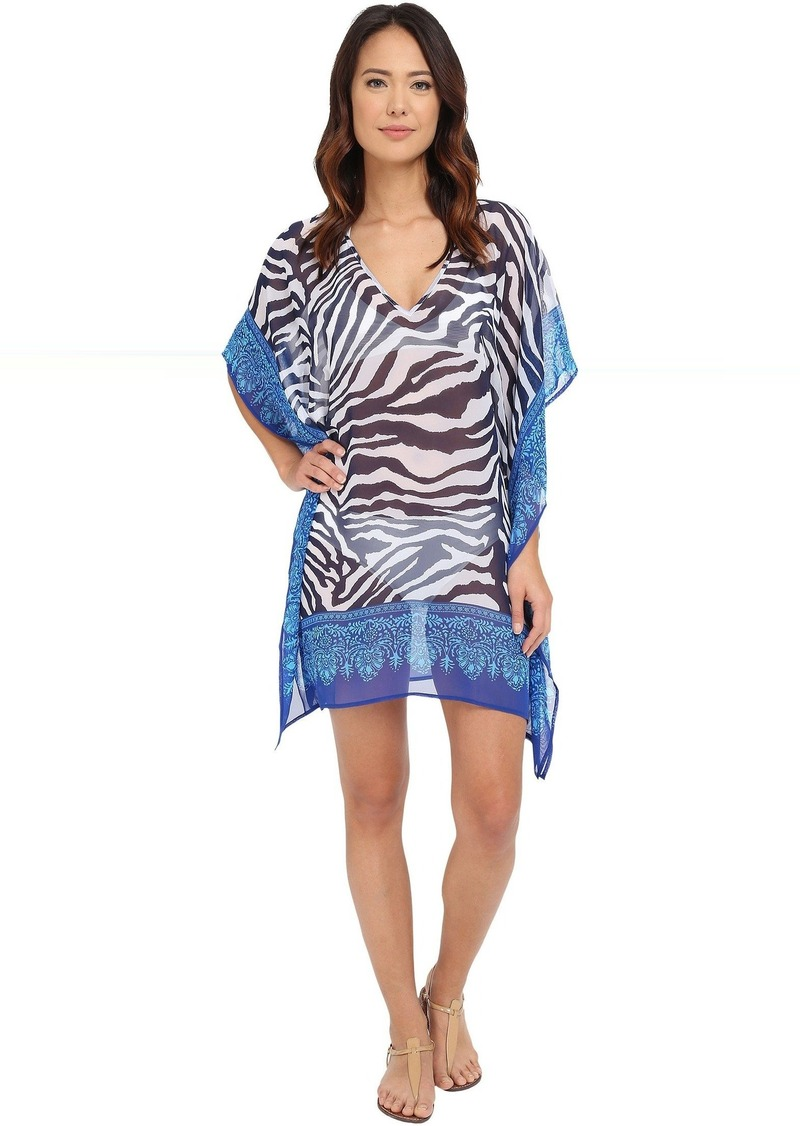 Tommy Bahama Zebra Engineered Tunic Cover-Up
