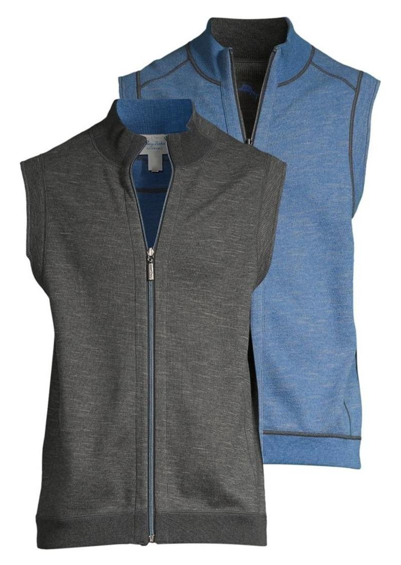 Tommy Bahama Zip-Front Cotton-Blend Vest