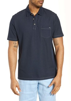 Tommy Bahama Tropicool Del Rey Stripe Pocket Polo