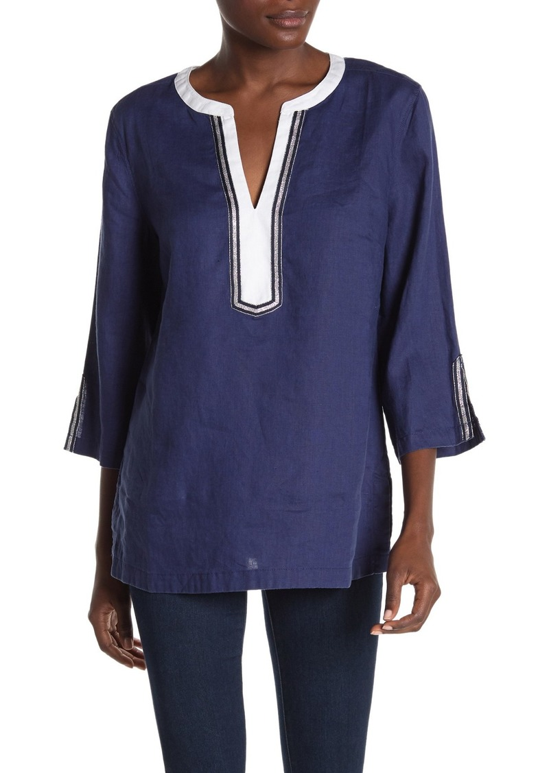 Tommy Bahama Two Palms 3/4 Sleeve Linen Tunic