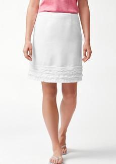 Tommy Bahama Two Palms Linen Ruffle Skirt