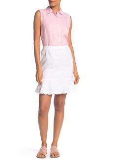 Tommy Bahama Two Palms Short Linen Flounce Skirt