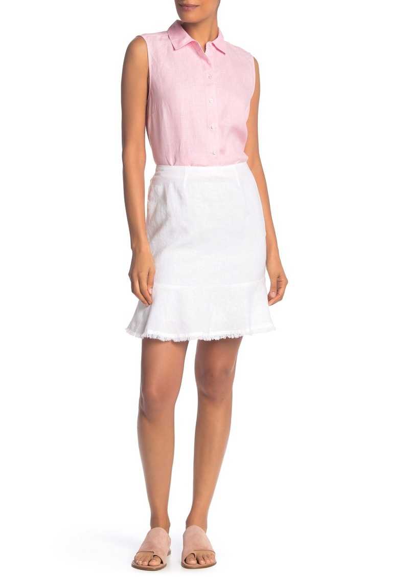 Tommy Bahama Two Palms Short Linen Flounce Skirt