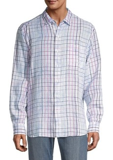 Tommy Bahama Windowpane Linen Shirt