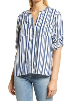 Women's Tommy Bahama Mission Beach Stripe Popover Shirt