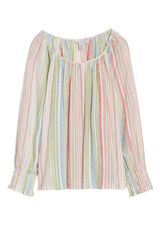 Women's Tommy Bahama Vista Sol Stripe Linen Blend Top