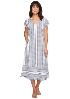 Tommy Bahama Yarn Dye Stripe Tea-Length Dress Cover-Up