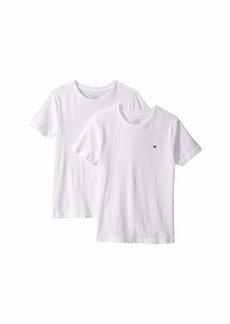 Tommy Hilfiger 2-Pack Solid Short Sleeve Crew Neck Undershirts (Little Kids/Big Kids)