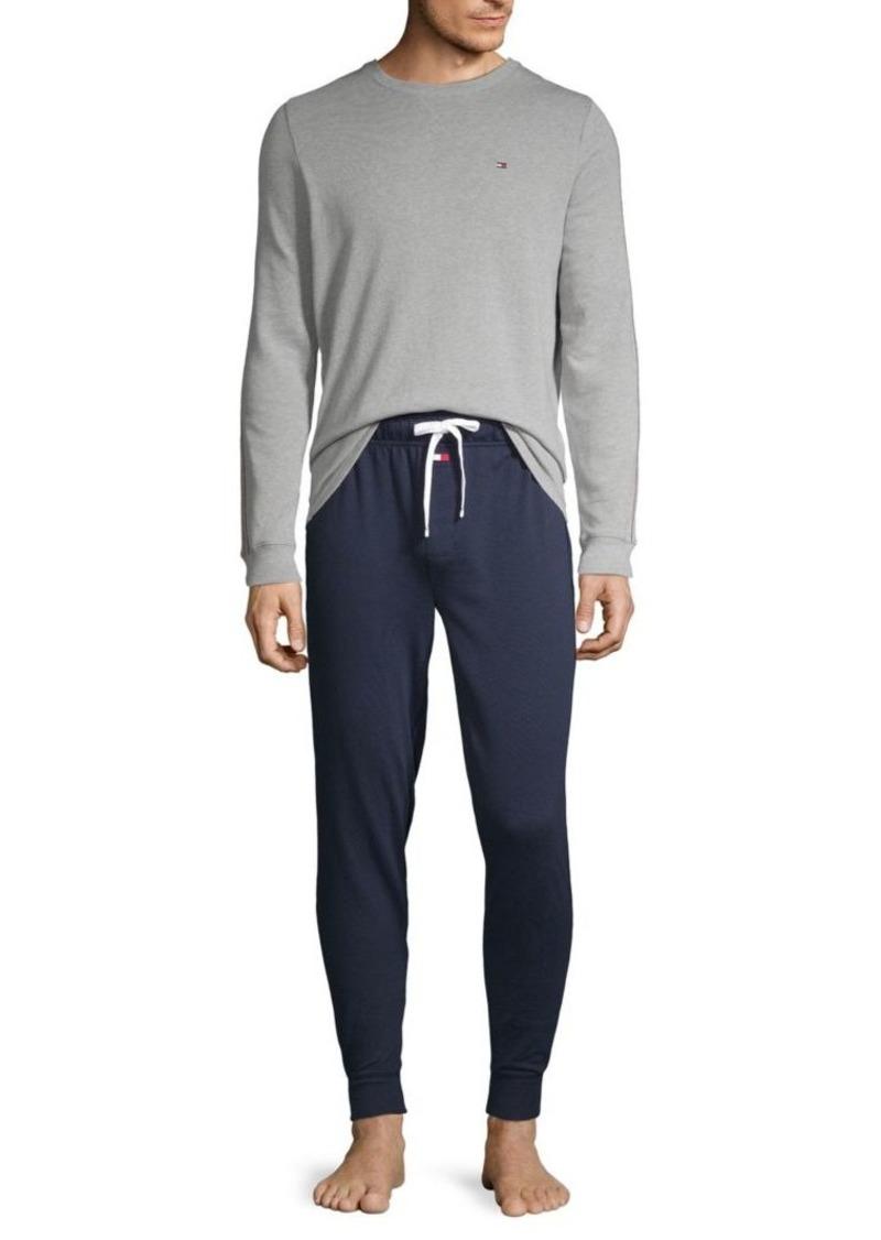 Tommy Hilfiger 2-Piece Logo Cotton-Blend Pajama Set